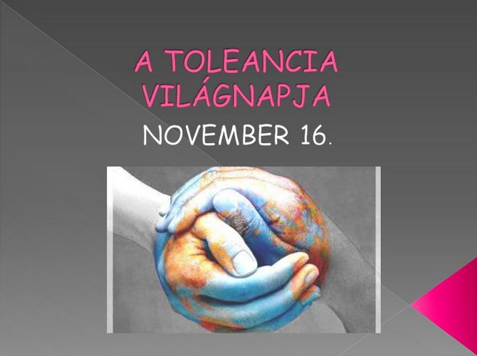 A Tolerancia világnapja a Don Bosco Iskolában
